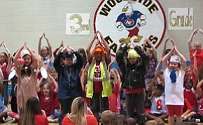 Woodside third-graders prep for big test