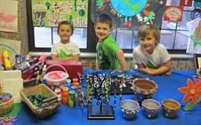 Preschool celebrates Earth Day with sale