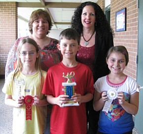 Fourth-graders place at math competition