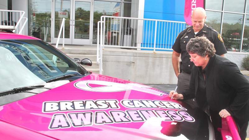 Mahoning sheriff, Chevy dealer on move for breast-cancer awareness
