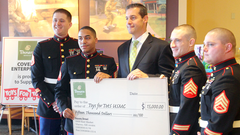 Covelli Enterprises helps Valley children with $15,000 Toys for Tots donation