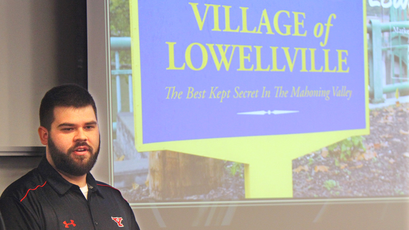 YSU marketing students dream up visions of Lowellville's future