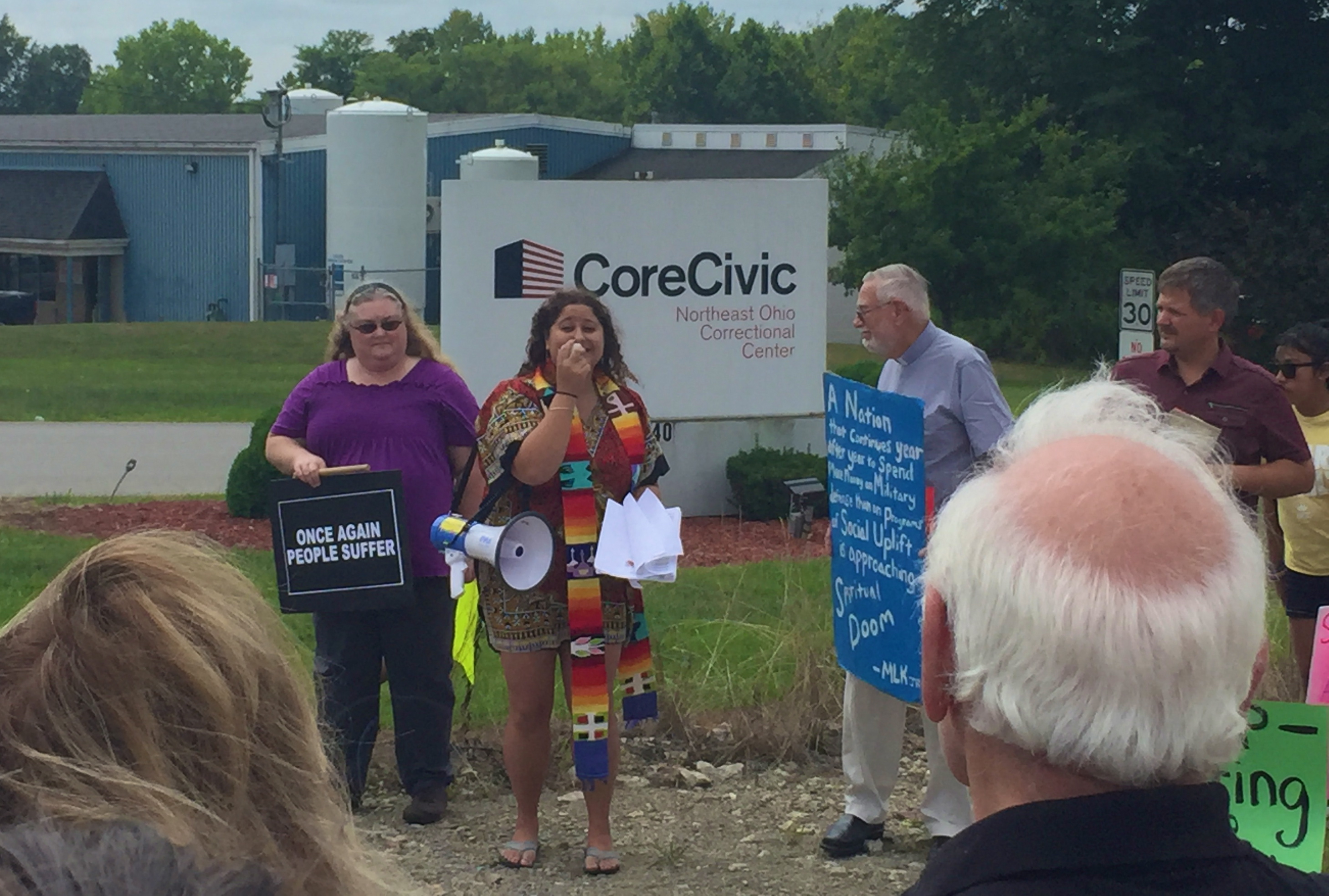 UPDATE | Protest leads to arrests at CoreCivic