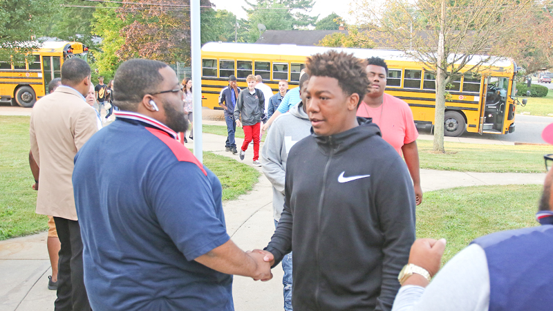 Community role models greet Youngstown students on first day