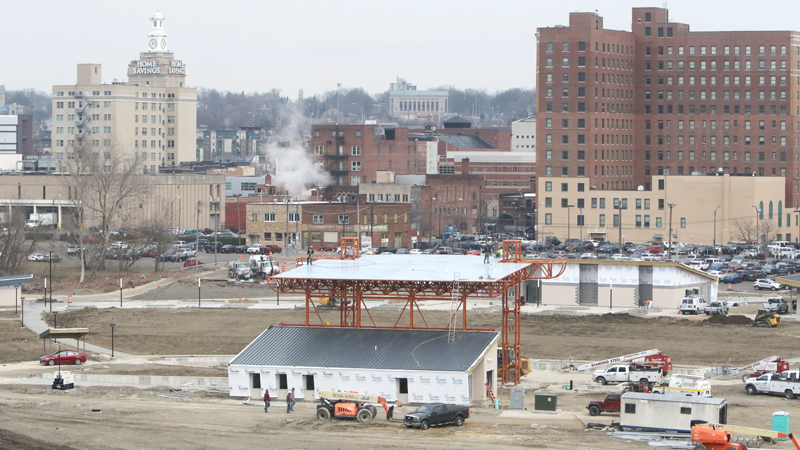 Youngstown amphitheater taking shape