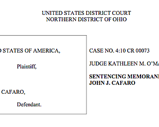 Cafaro sentencing memorandum