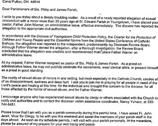 Letter to Sts. Philip and James Parish