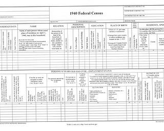1940 Federal Census