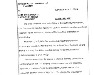 Patriot vs. Ohio EPA Motion to Dismiss