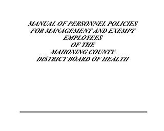 Board of Health Management Personnel Manual