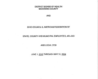 Board of Health Union Contract