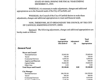 Ordinance 2010-52 Ammended Annual Appropriations