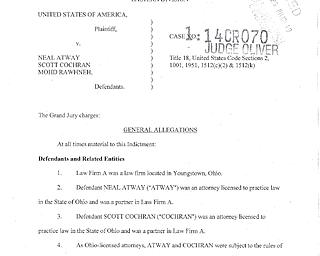 Attorneys, Boardman man indicted