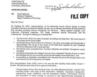 Hotel California - Illegal Installation of Plumbing