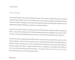 Donham Cease and Desist Letter