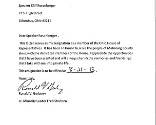 Gerberry Resignation Letter