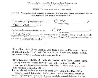 Canfield Charter Amendment