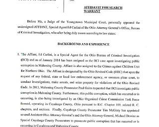 Mahoning County Search Affidavit