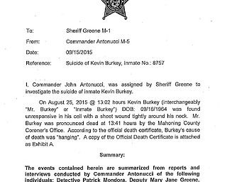 Report: Suicide of Kevin Burkey
