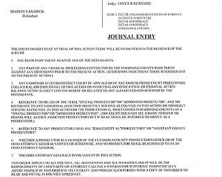 Judge's Journal Entries for Yavorcik