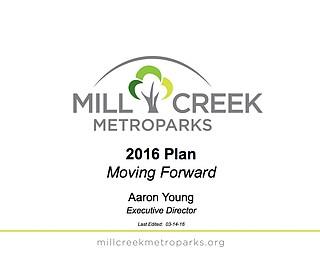 Mill Creek MetroParks 2016 Plan