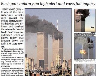 Vindicator Publication - September 11, 2001