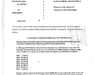 Ohio vs Infante - Bill of Particulars