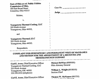 Youngstown Thermal Court Documents