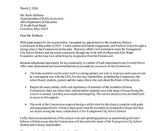 Roller resignation letter