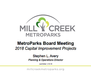 MetroParks Capital Projects Presentation