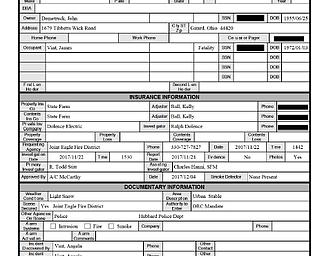 Hubbard fire report