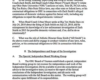 Urban Meyer Report