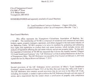 YCAR Letter