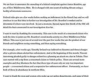 U.S. Attorney Justin Herdman's comments