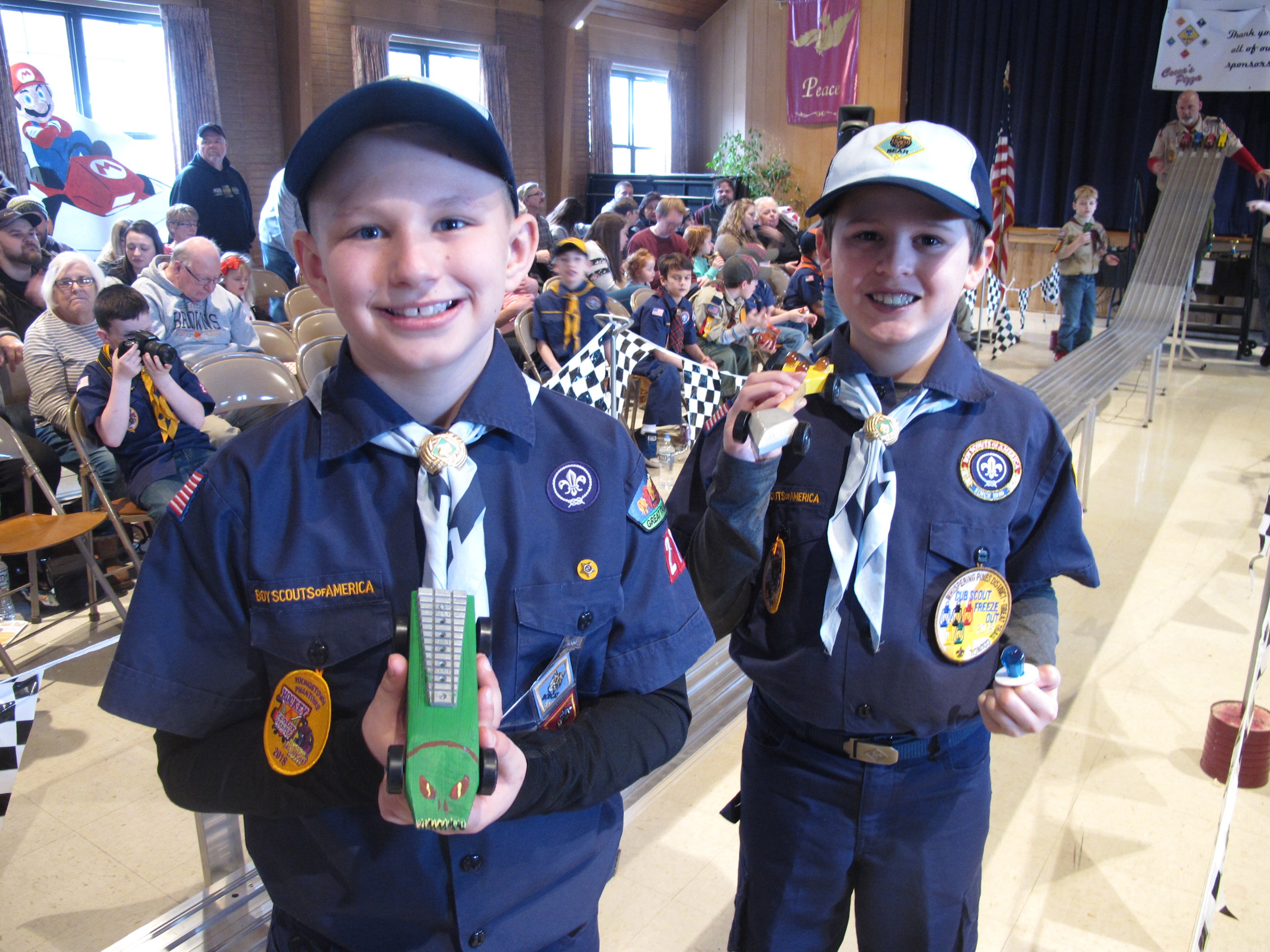 Sportsmanship And Creativity At Pinewood Derby