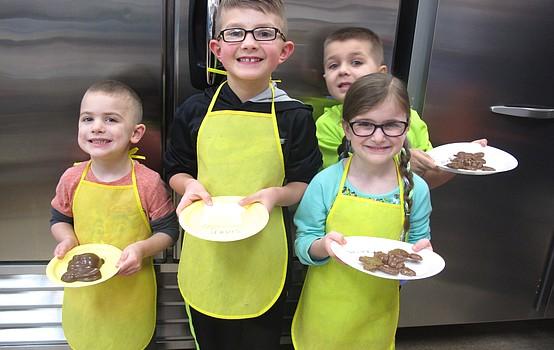 Children make sugary Easter treats