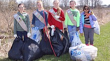 Scouts pitch in with Earth Day cleanup