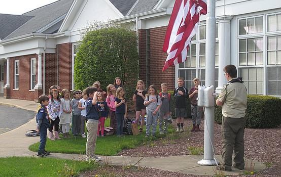 Flag demonstration at after school program