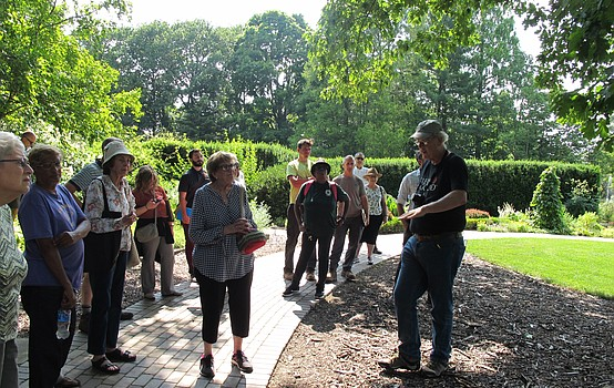 Lecturer discusses the benefits of local trees