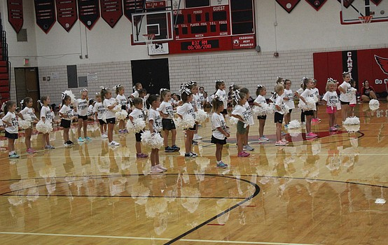CHS cheerleaders host Kiddie Cheer Camp