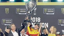 NASCAR Logano takes first Cup