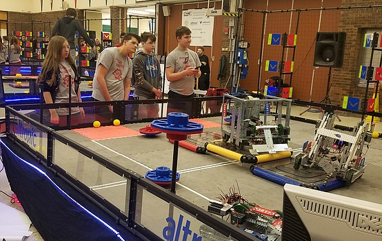 Students compete in Vex Robotics Competition