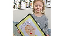 Davis YMCA displays preschool classes' self-portraits