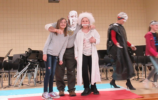 Pi Day pie throwing at Austintown Intermediate School