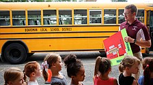 Kindergarten students get lesson in bus safety