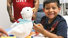 Aflac ducks go to kids with cancer