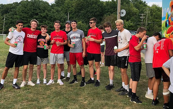 Boys basketball program thanks community with cookout