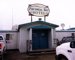 Dyckman had to pay $100 a night to stay in the only available lodging in Prudhoe Bay, this makeshift motel where patrons had to share bathrooms.