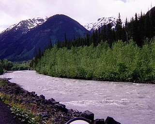 Dyckman said that parts of rivers he passed on the way to Prudhoe Bay had unfrozen in the semi-warm temperatures of summer, and the Alaskan landscape was beautiful until he got into the tundra of the North.
