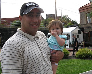 Father with daughter at Blues Festival